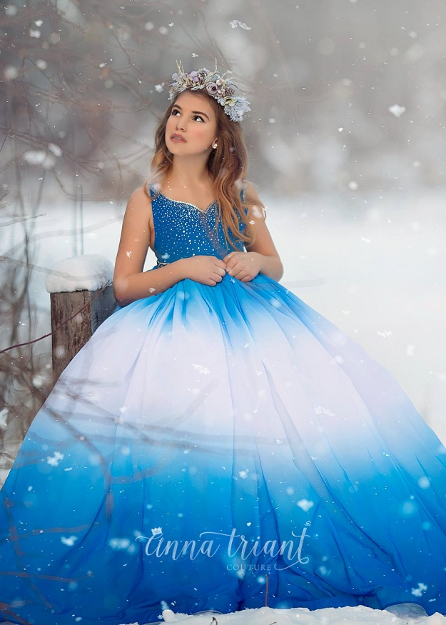 Julie Ombre Gown -Blue